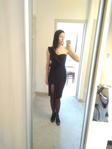 Seamyla Sexy Bandage Dress Women Club Wear Ruffles One Shoulder Black Dresses Bodycon Celebrity Party Dress Vestidos photo review