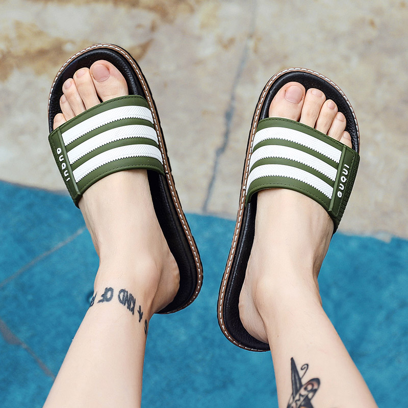 Mens Slippers Home Slides Men Flip Flops Bathroom Slippers Non slip Flat Outdoor Beach Slippers Indoor Mens Shoes in Slippers from Shoes