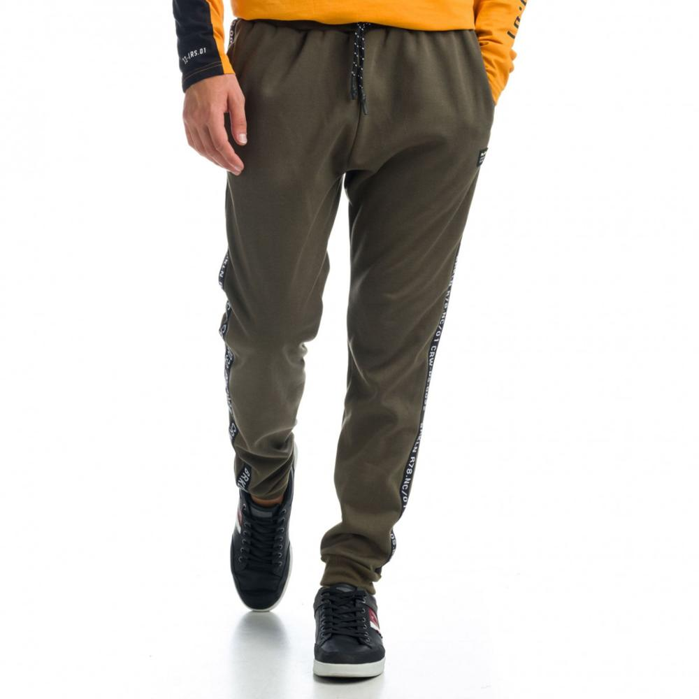 KOROSHI PANTS LONG JOGGER TAPE TEXT MAN