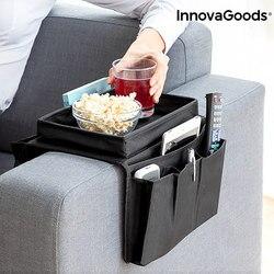 Taca na sofę z organizerem na zdalne sterowanie InnovaGoods w Składane torby do przechowywania od Dom i ogród na