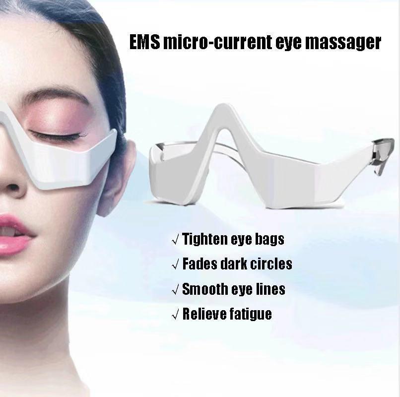Micro freqüência ems olho massageador remendo inteligente relaxar protetor de olho desaparece linhas finas instrumento beleza do olho