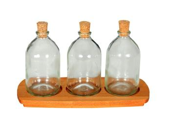 4-Piece Bottle Glass Mini Spice Vinegar Vinegar Set недорого