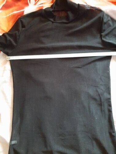 Sexy Women T Shirt See Through Transparent Mesh Tops Long Sleeve Sheer Slim Ladies Turtleneck T-Shirt