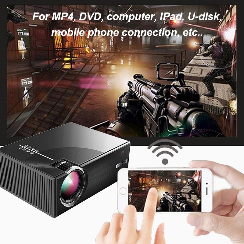 Video-Projector Home Cinema Portable Led-Beamer Lumens 1800 LCD for AV USB VGA 3D HDMI