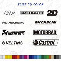 KIT SPONSOR PEGATINAS VINILOS WP FACOM 2D IVM AUTOMOTIVE MICHELIN AKRAPOVIC MOTORRAD CASTROL-in Autoaufkleber aus Kraftfahrzeuge und Motorräder bei