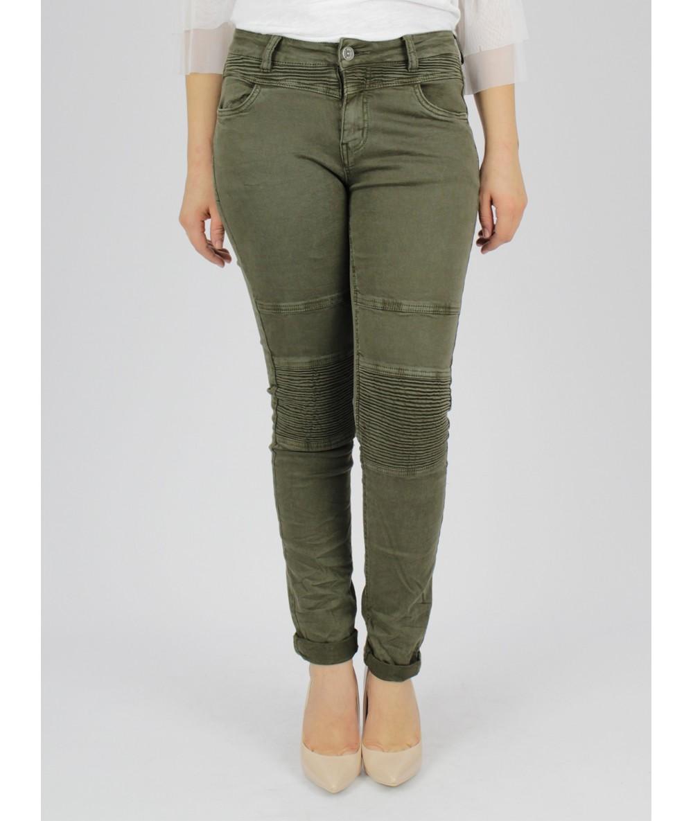COWBOY PATCHES ELASTIC GREEN COLOR Woman Vogue Woman Pants Trousers Pants WOMEN'S Pants Trousers Femme