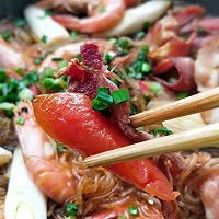 #太太乐鲜鸡汁芝麻香油#大虾培根粉丝煲的做法图解25