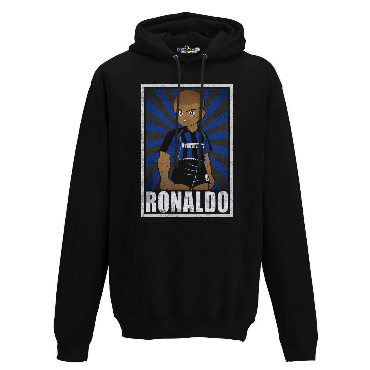 Hood Sweatshirt <font><b>Soccer</b></font> Vintage Ronaldo <font><b>Inter</b></font> <font><b>Milan</b></font> Legend Spoof Holly and Benji Grunge S image