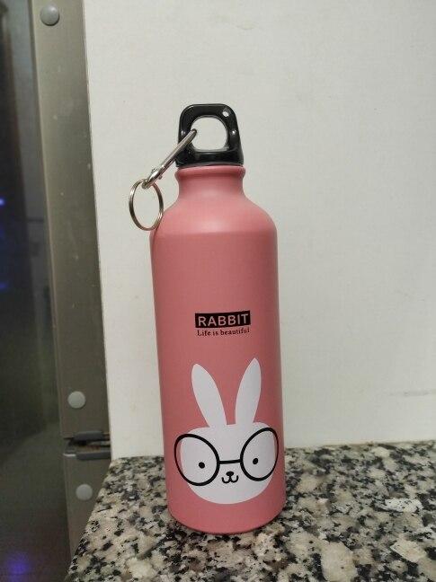 500ML Kids Cute Water Bottle Portable Sport Drink Bottle Leakproof Steel Botella With Hook Lid for Outdoor Travel Man Women Gift|Water Bottles| |  - AliExpress