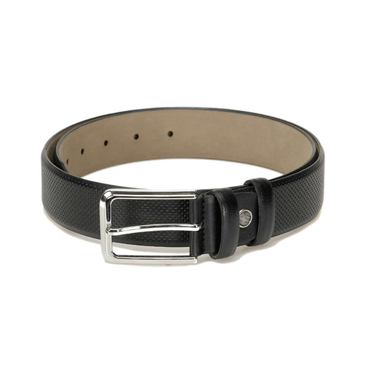 FLO MVZYN3401 Black Male Belt Garamond