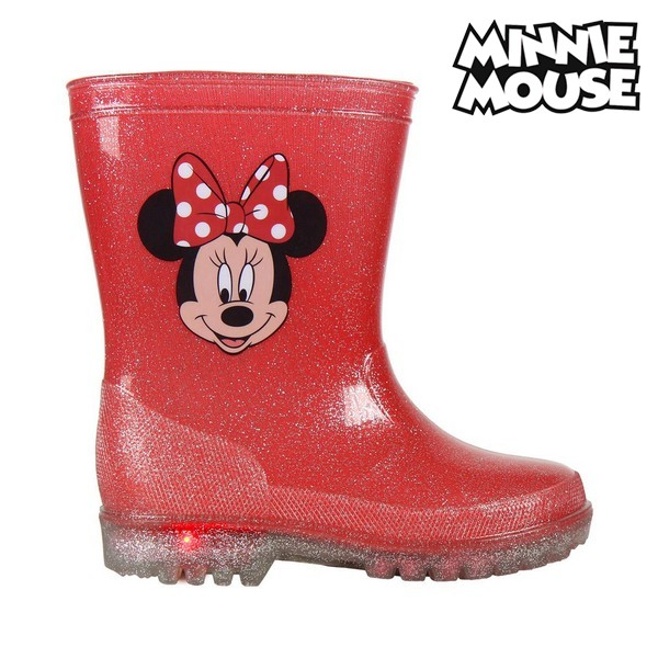 Children's Water Boots With LEDs Minnie Mouse 73498 Red