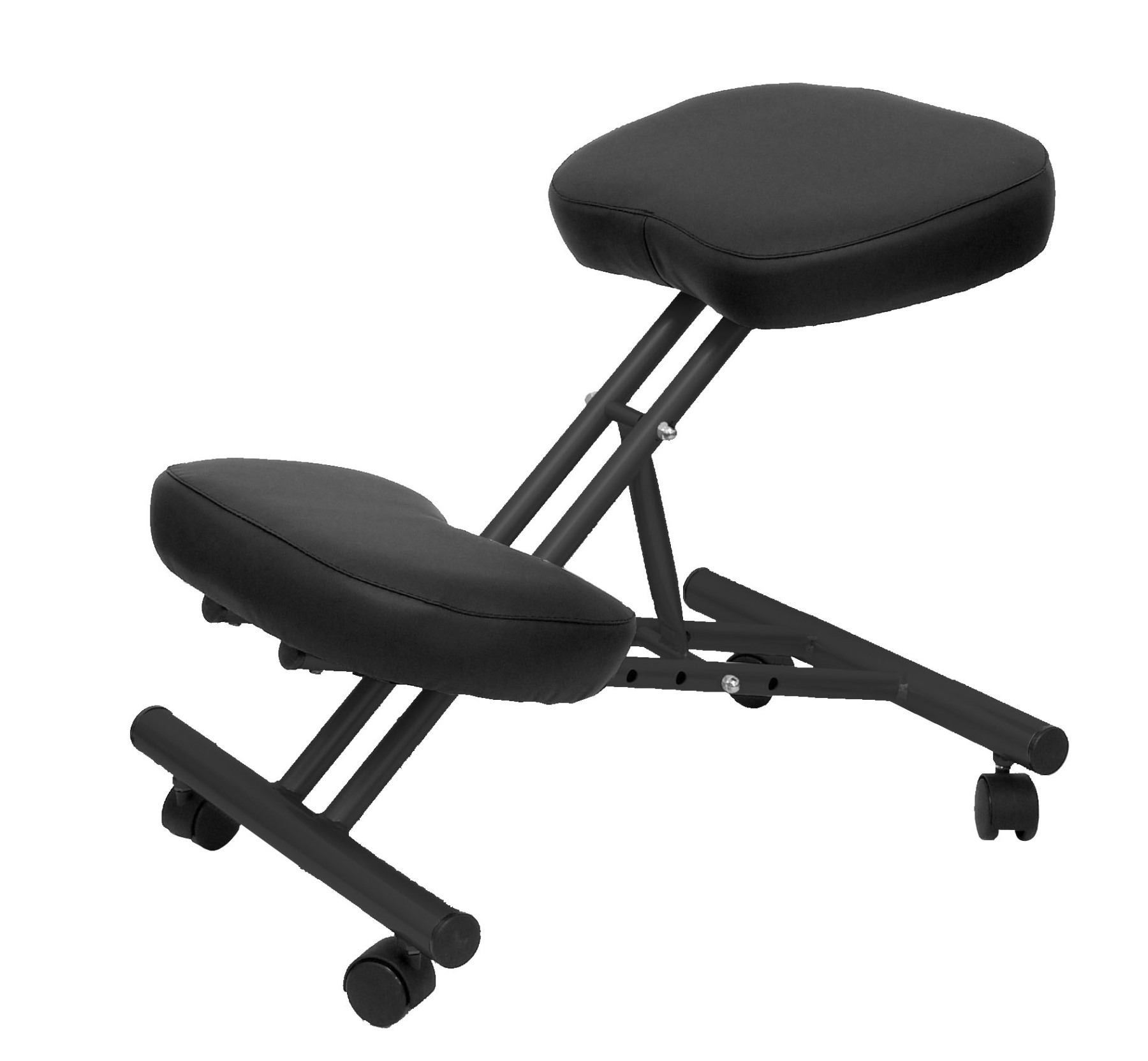 Office's Stool Ergonomic Fixed, Dimmable In Various Positions And With Wheels Up Seat Upholstered In Similpiel Color N