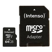 Micro Sd Geheugenkaart Met Adapter Intenso 34234 UHS-I Xc Premium Zwart