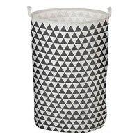 Laundry basket Triangle White Grey 111119