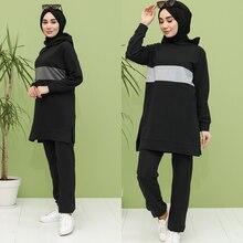 Double tracksuit Muslim headscarf Part 2 New Season turkey Dubai Women's Fashion Trends arabia 100% Made in Turkey