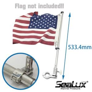 Image 5 - Sealux Marine Grade Stainless Steel 304 Flag Pole for ϕ22.2mm and ϕ25.4mm rail Boat Yacht Car RV Fishing Marine Accessories