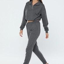 Kadın eşofman takımı 2021 siyah gri organik pamuklu alt üst 2 parça şık moda kaliteli mevsimlik içeride dışarıda kullan