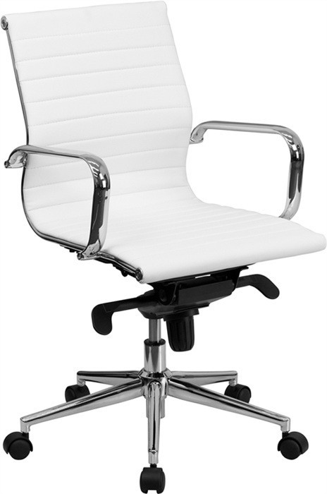 Office Armchair ALABAMA, Rotatable, Similpiel White