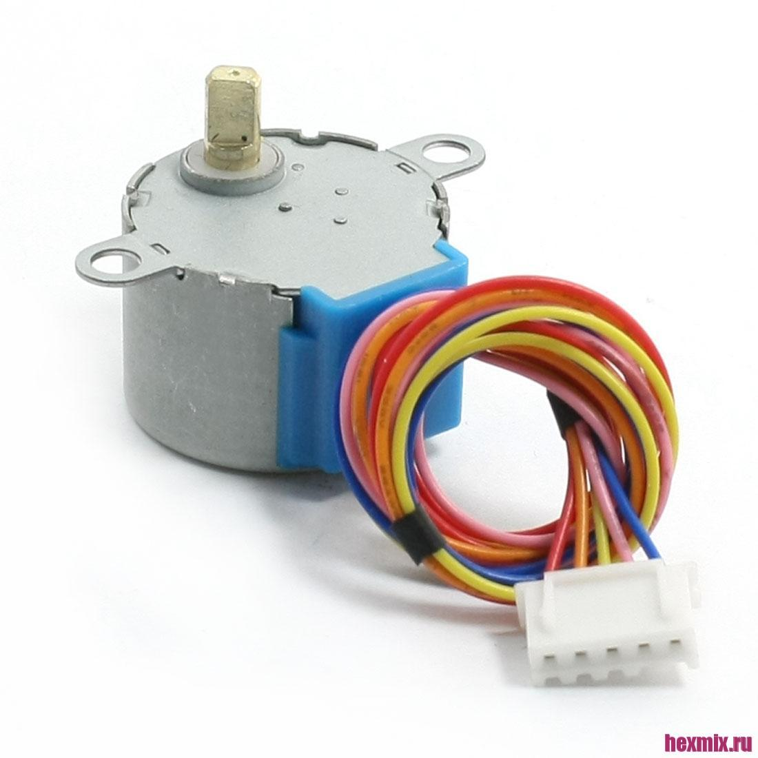 28byj-48 Stepper Motor 4 Phase 5 Wire Gear Motor (напряжение-5в)
