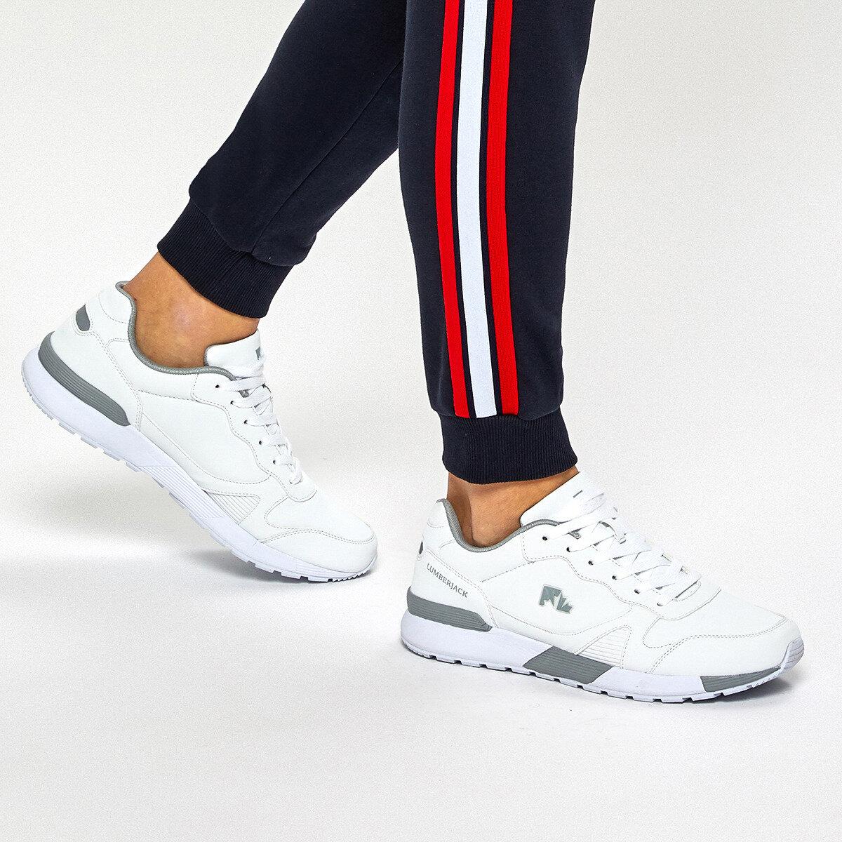FLO ARANDA 9PR White Men 'S Sneaker Shoes LUMBERJACK