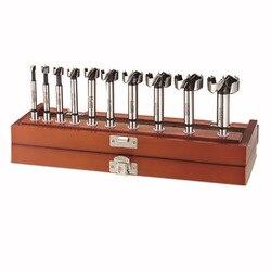 17 шт. Форстнер бит профессиональный набор в деревянной коробке, метрический набор