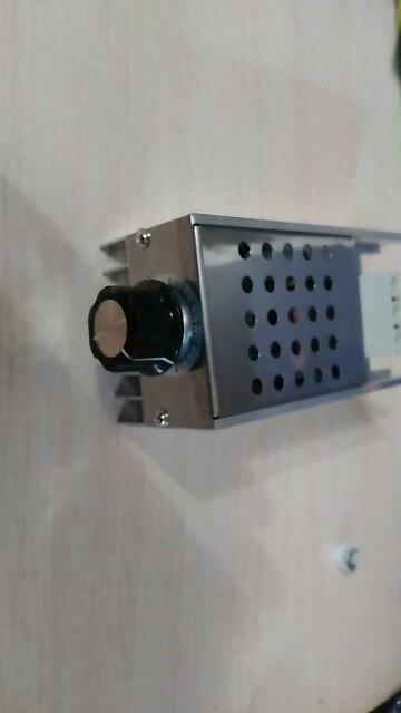 Отзыв о товаре 10000 Вт 25А регулятор скорости высокая мощность SCR регулятор напряжения диммер регулятор скорости температурный контроль термостат AC 110 В 220 В от пользователя V***v