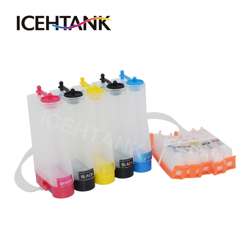 ICEHTANK Continuous Ink Supply System For <font><b>Canon</b></font> PGI 550 CLI 551 <font><b>PIXMA</b></font> MG5450 <font><b>MG5550</b></font> MG5650 MG6350 MG6450 MG6650 MG7150 Printer image