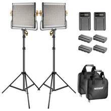 Neewer двухцветный светодиодный 480 Видео светильник и подставка