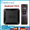 Android 10 X96Q 4K Smart TV BOX 1080P четырехъядерная ТВ-приставка Allwinner H313 2,4G беспроводной Wi-Fi медиаплеер