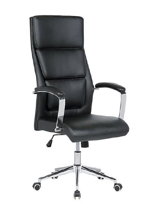 Office Armchair FREIBURG, High, Gas, Tilt, Similpiel Black