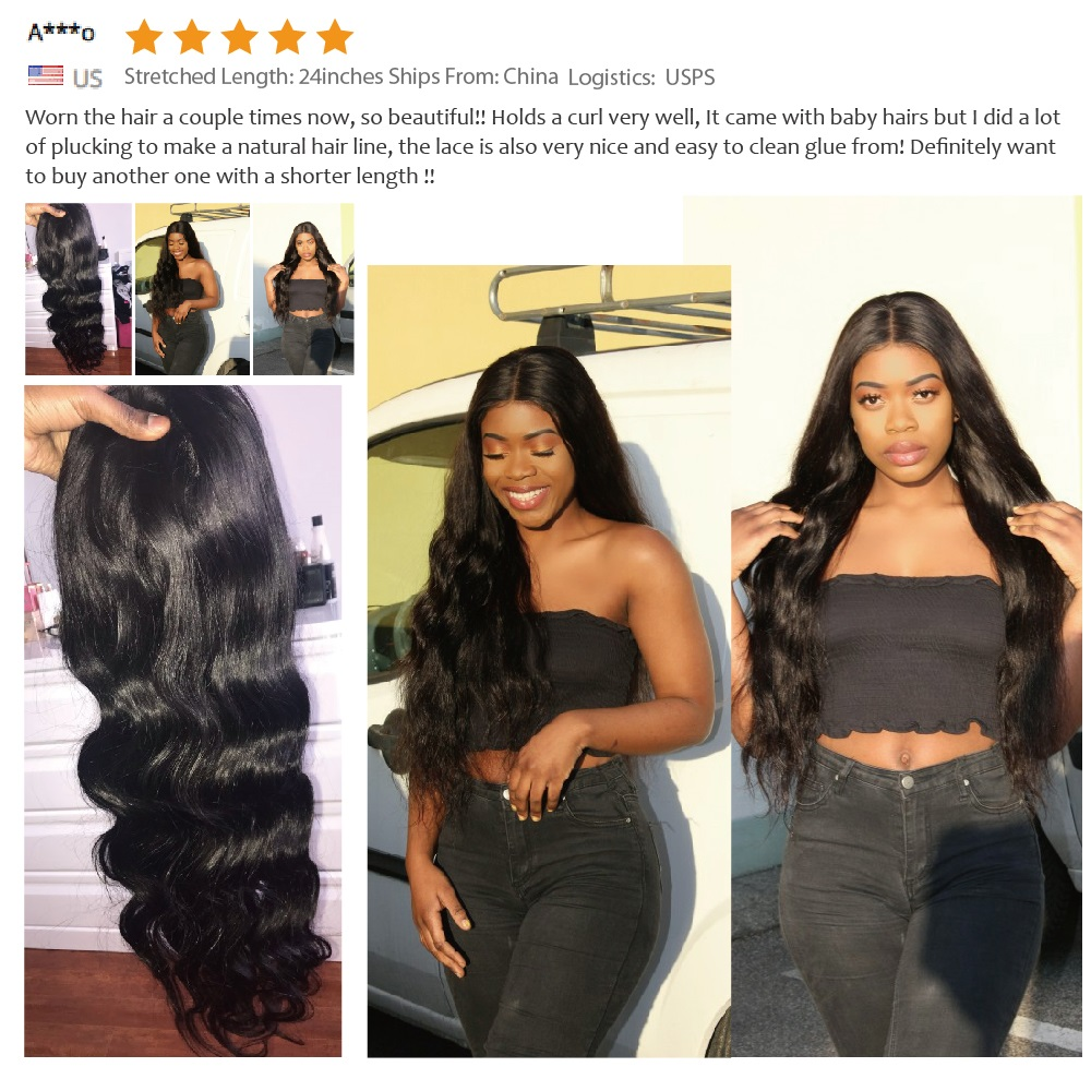 Lace Front  Wig Pre Plucked With Baby Hair  Body Wave Wig 360 Lace  Wigs  5