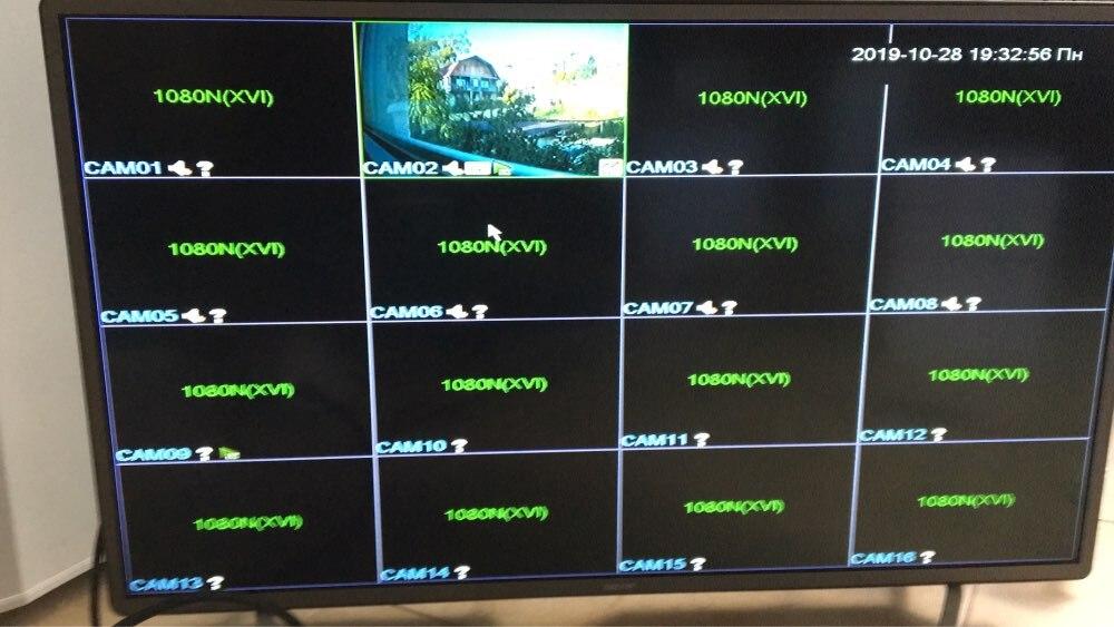 16CH 1080N ڊي آر سي سي ٽي وي سسٽم جو نظام ايم ڊي ڊي آر ڪٽ 2 ايم پي 1080P آئي آئوٽ آئو 66 پنروڪ ڪيمپ P2P ويڊيو نگراني سيٽ