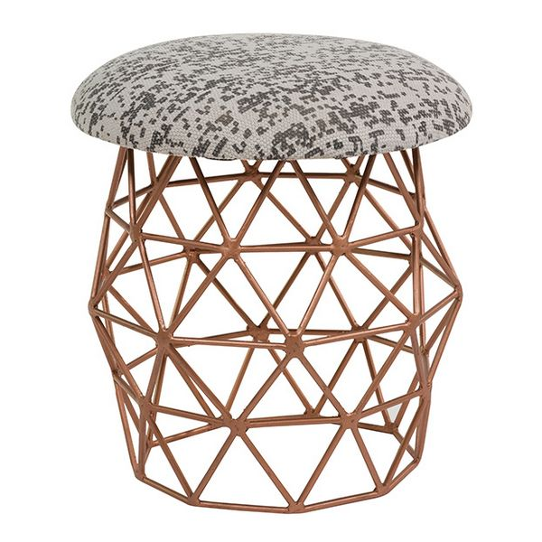 Stool Retro Copper (40 X 40 X 42 Cm)