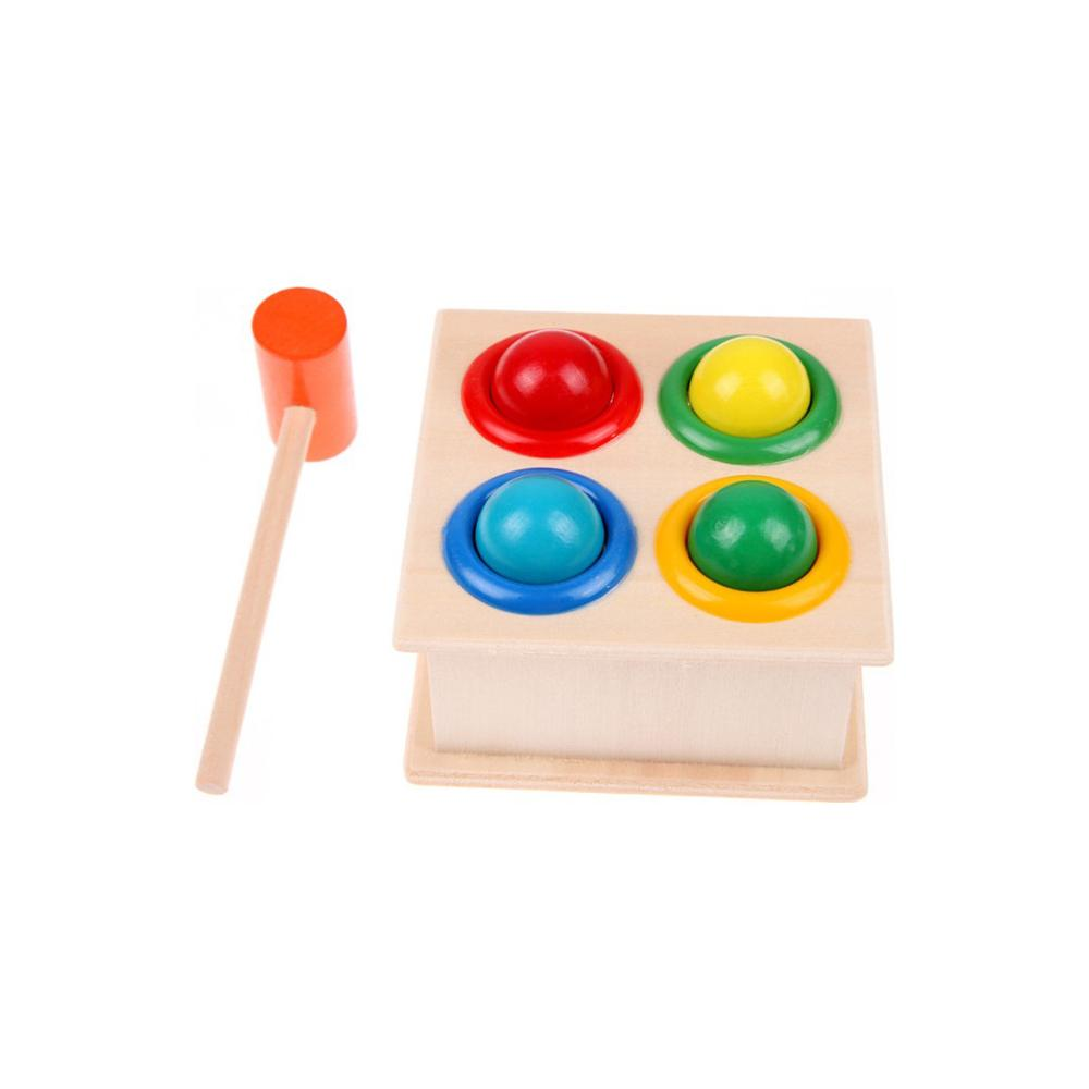 Wooden Hammering Ball Hammer Wood Box Children Fun Playing Game Toy Early Child Boy Girl Learning Educational Toys New Hot 2021
