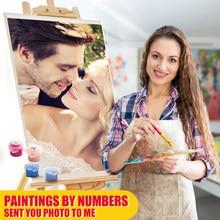 Pintura personalizada cuadro pintar por números para adultos cuadros, artesanal pintura por números, lienzo para colorear por números, dibujo al óleo, regalo