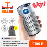 Byintek p7 bolso portátil pico inteligente android wifi 1080p 4k tv laser mini led projetor dlp de cinema em casa para smartphone