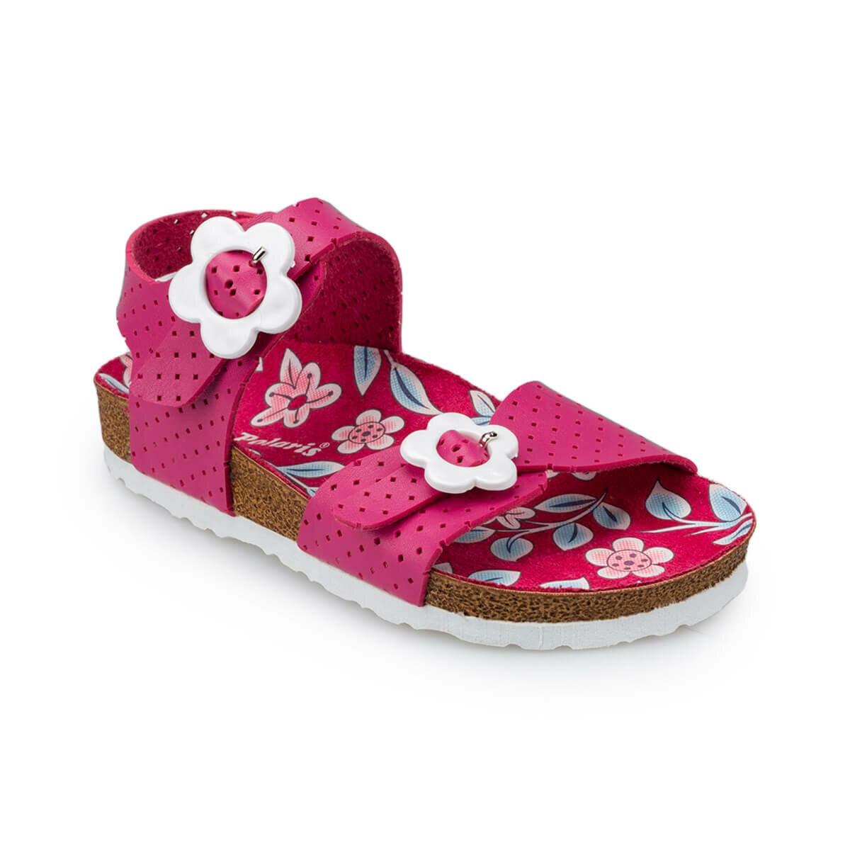 FLO 91.511055.P Fuchsia Girls Child Sandals Polaris