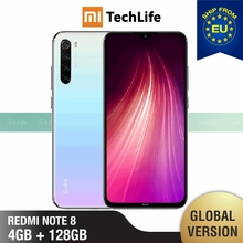 Global Version Xiaomi Redmi Note 8 128GB ROM 4GB RAM (Brand New / Sealed) note 8, note8, Smartphone Mobile