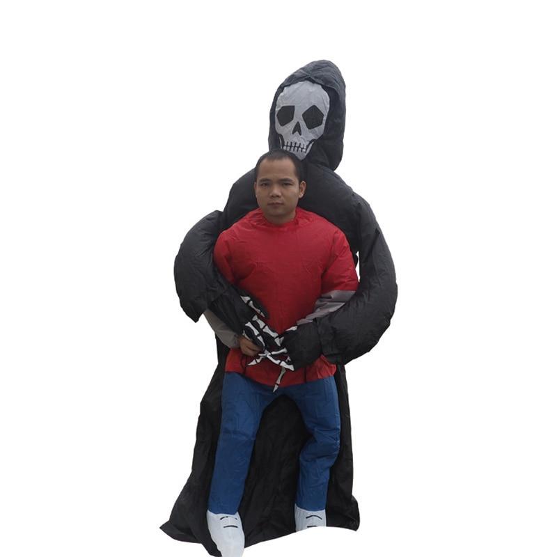 Gothic Skeleton Ghost Spiked Skull Half Face Mask Biker Balaclava Halloween 3pc