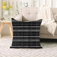 Sonst Schwarz Weiß Ethnischen Aztec Geometrische Skandinavischen 3d Print Sofa große kissen fall Boden kissen deckt Versteckte Zipper 70x70cm|Kissenbezug|   -