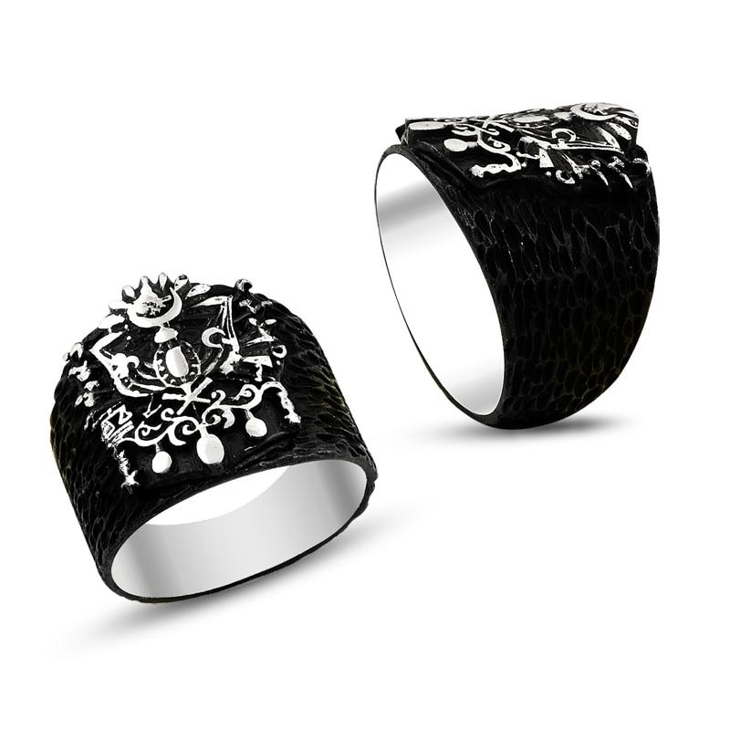925 Silver Handmade Special Design Ottoman Rings for MEN