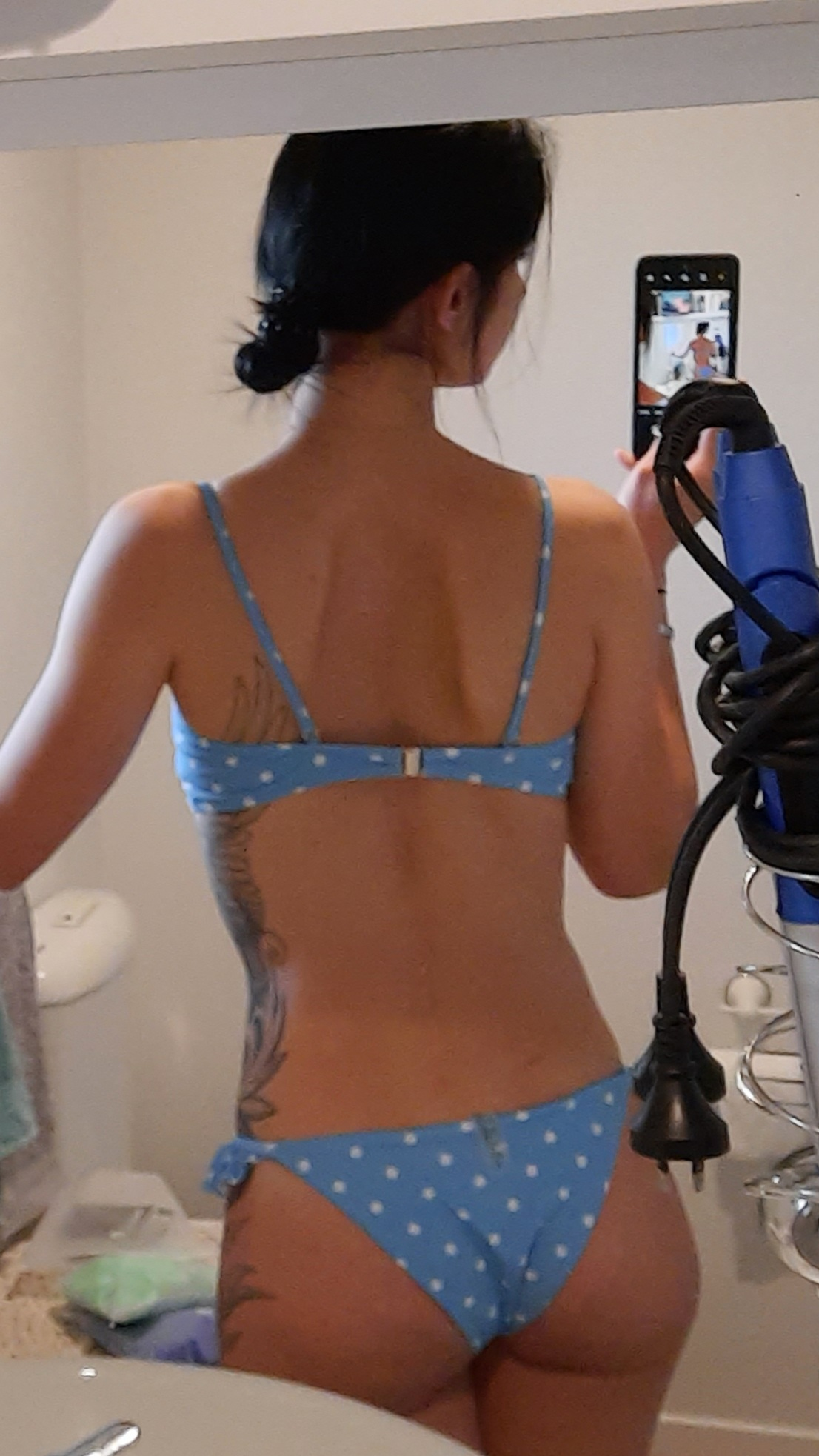 2021 Sexy Blue Bow Polka Dot Bikini Women Swimwear Female Swimsuit Two piece Bikini set Brazilian Bather Bathing Suit Swim V1672 Bikini Set    - AliExpress