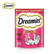 Лакомство для кошек Dreamies подушечки с говядиной, 140г