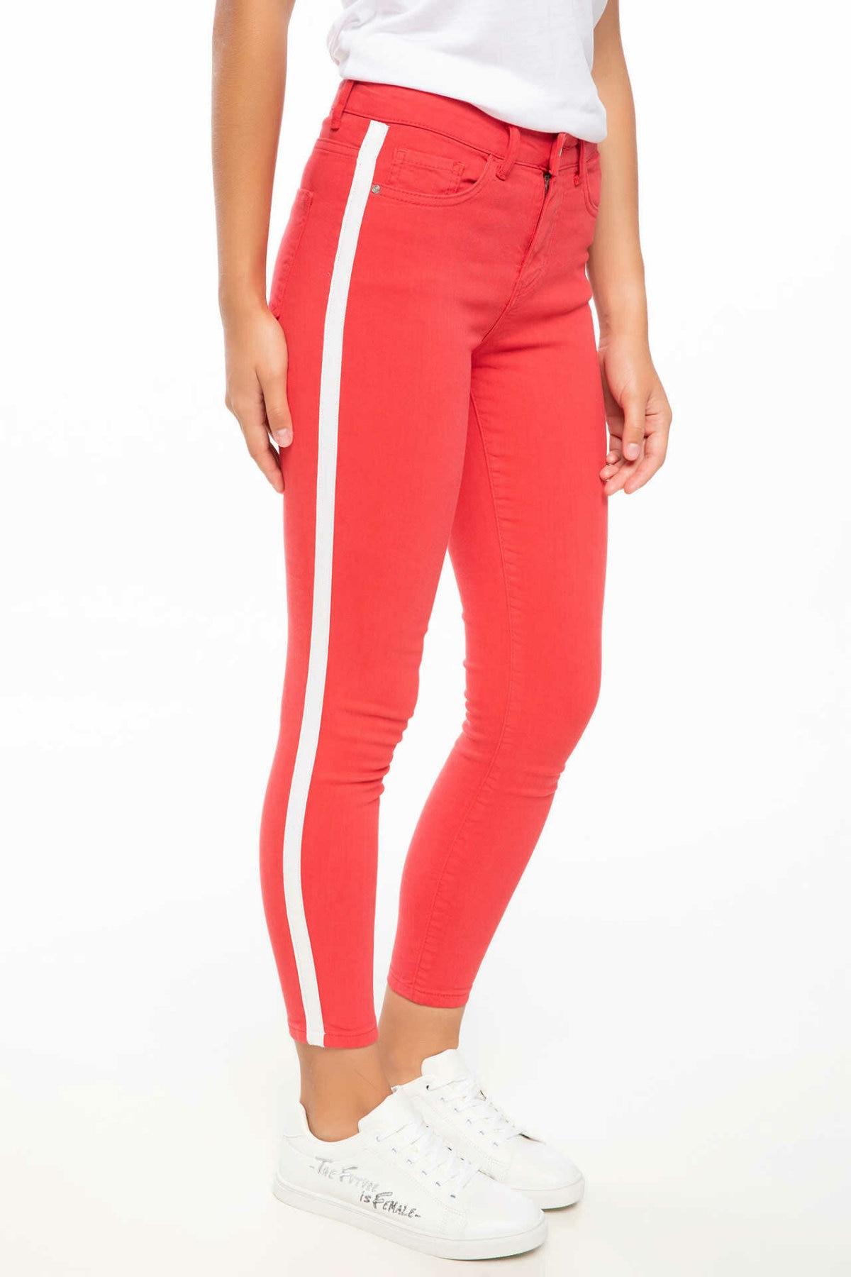 DeFacto Fashion Woman Autumn Slim Long Pants Women Pencil Pant Casual Elastic Female Bottoms Crop Trousers - K0118AZ18HS