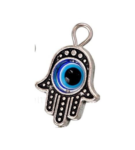 HAND OF FATIMA With TURKISH EYE (evil Eye AMULET) 1cm