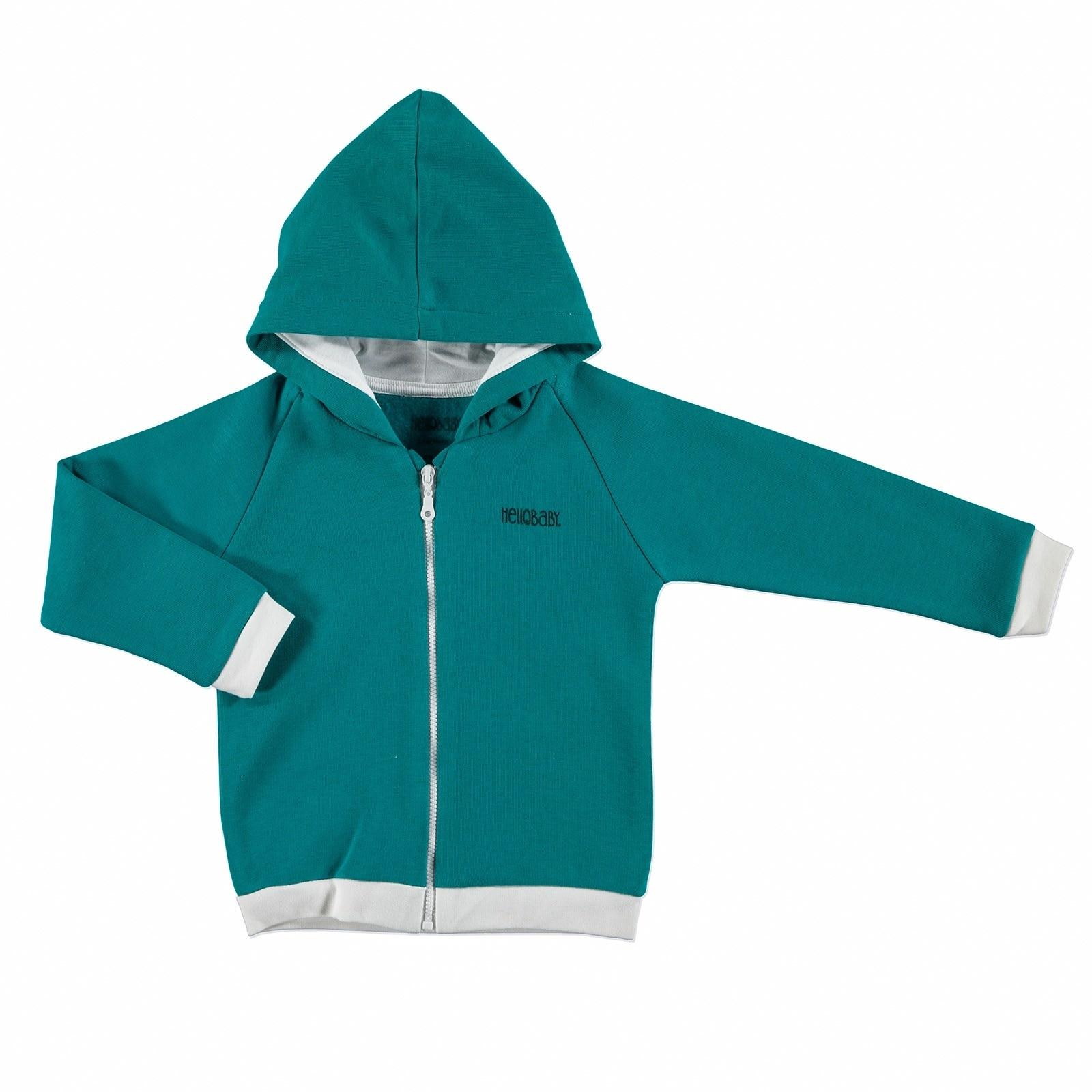 Ebebek HelloBaby Winter Printed Baby Long Sleeve Hoodie Cardigan