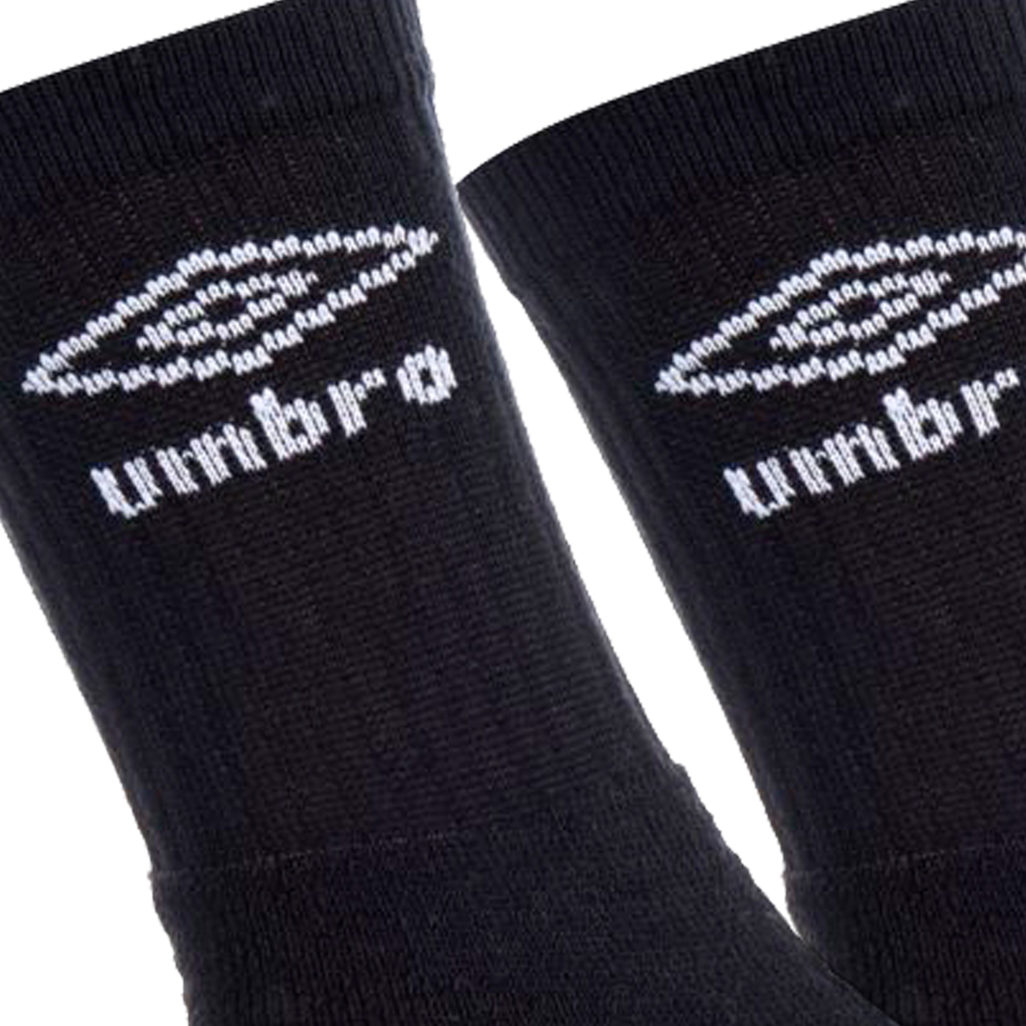 UMBRO Pack 10 pairs of long socks made of cotton, polyester and elastane in black color-3