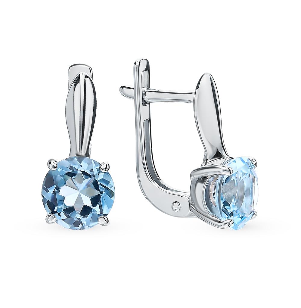 Silver Earrings With Topaz SUNLIGHT Test 925