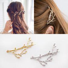1pcs Fashion Vintage Metal Gold Silver Tree Hair Clips Barrettes Hairpins Headwear Pins Accessories for Women Girl