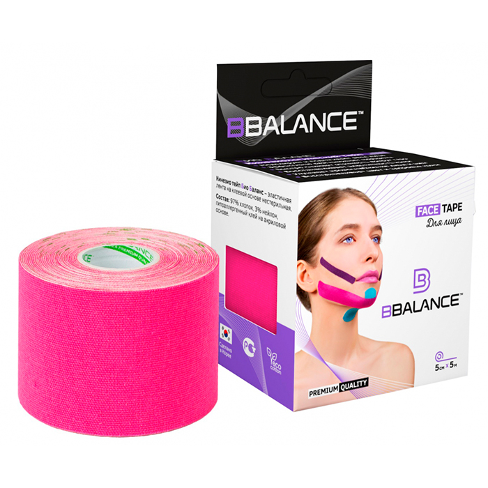 Kinesio Teip Face Bbalance Face Pack (5 Cm * 5 M) Pink